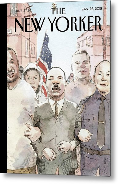 The Dream Of Reconciliation Metal Print by Barry Blitt