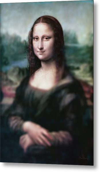Metal Print featuring the painting The Dream Of The Mona Lisa by David Bridburg