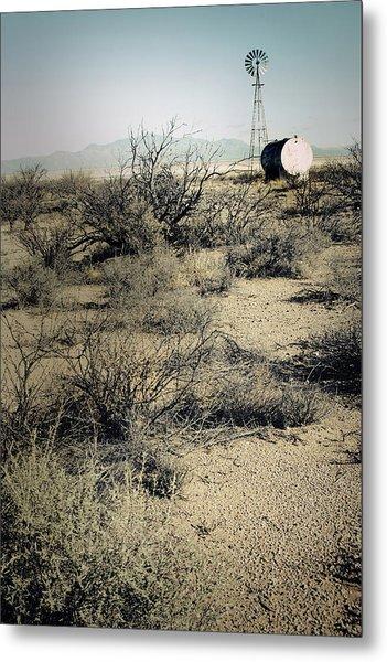 The Dry Lands Of Arizona Metal Print