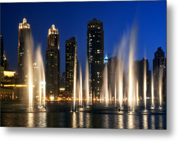 The Dubai Fountains Metal Print