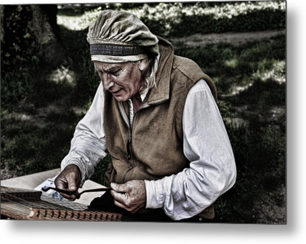 The Dulcimer Man Metal Print