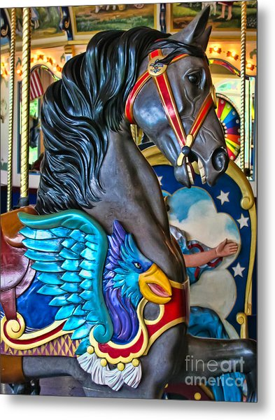 The Eagle And Horse Metal Print