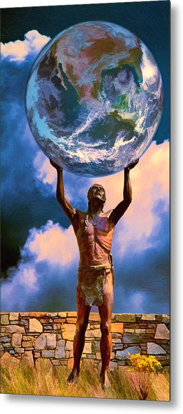 The Earth Is In Our Hands Metal Print