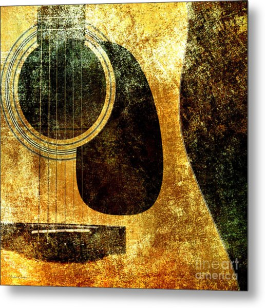 The Edgy Abstract Guitar Square Metal Print