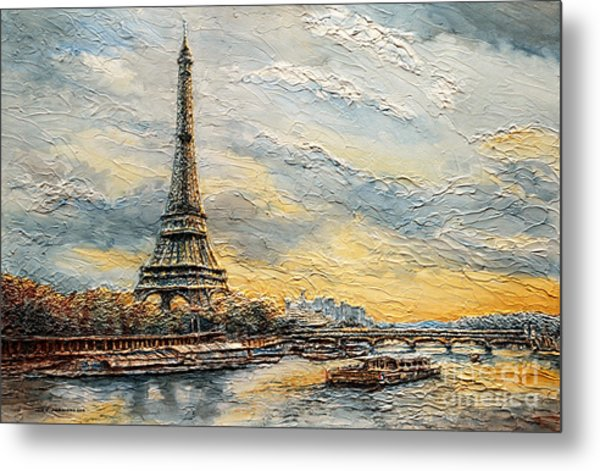 The Eiffel Tower- From The River Seine Metal Print