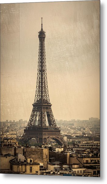 The Eiffel Tower In Paris France Metal Print