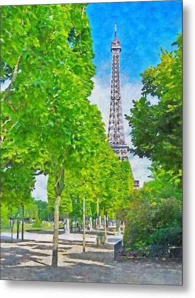 The Eiffel Tower In The Spring Of 2014 Metal Print