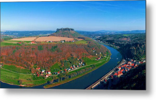 The Elbe Around The Lilienstein Metal Print