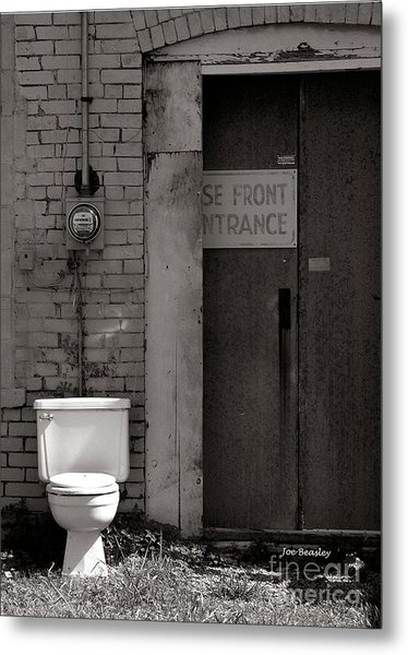 The Electric Outhouse Metal Print by   Joe Beasley