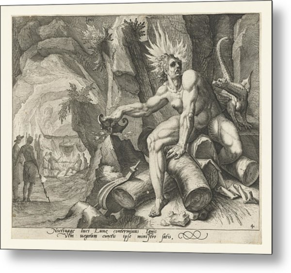 The Element Of Fire, Attributed To Jacob De Gheyn II Metal Print by Attributed To Jacob De Gheyn (ii)