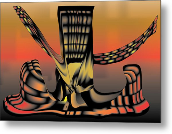 The Ember Tree Metal Print