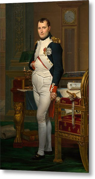 The Emperor Napoleon In His Study At The Tuileries Metal Print