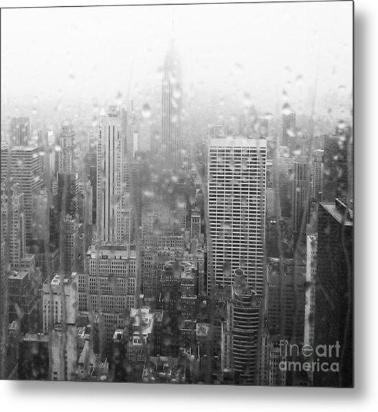 The Empire In The Rain Metal Print by Alice Gardoni