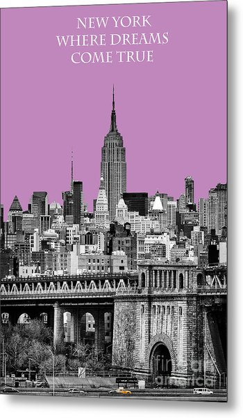 The Empire State Building Pantone African Violet Metal Print