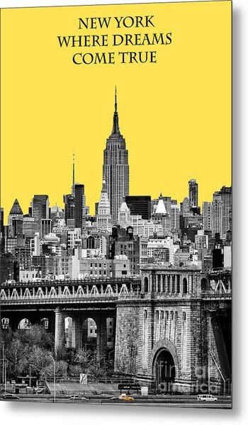 The Empire State Building Pantone Yellow Metal Print