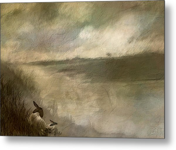 The End Of The Day Sheep Metal Print