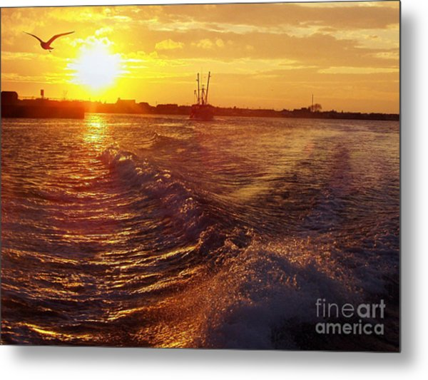 The End To A Fishing Day Metal Print