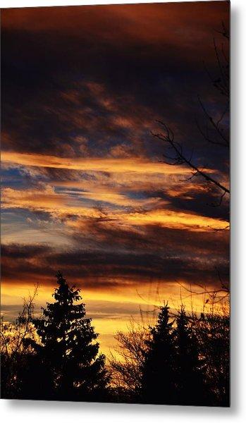 The Evening Sky Metal Print