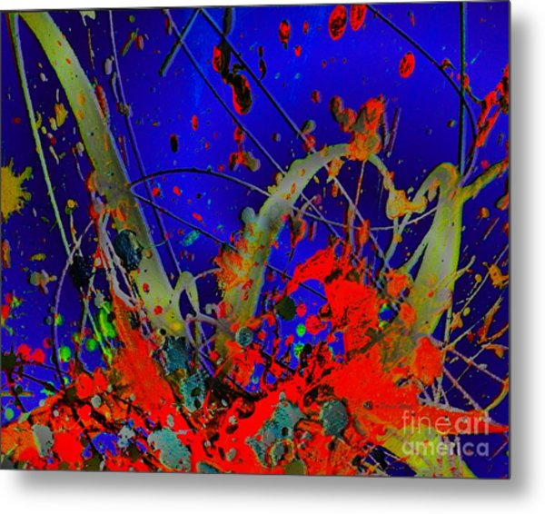 The Explosion Of Color Metal Print by Doris Wood
