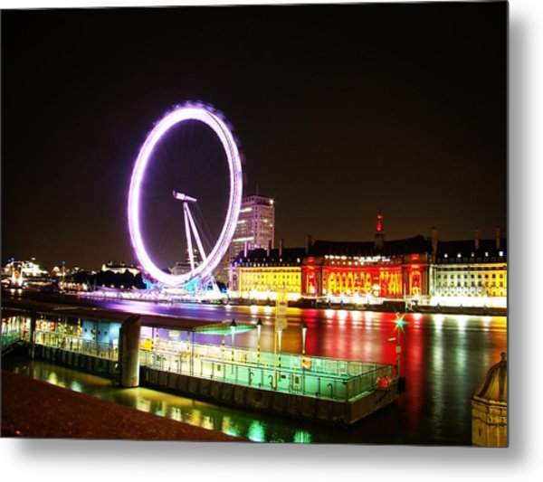 The Eye In Colors Metal Print