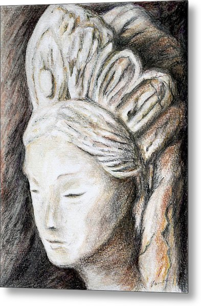 The Face Of Quan Yin Metal Print