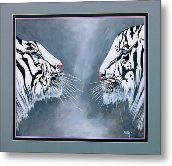 The Face Off Metal Print by Andrea Camp