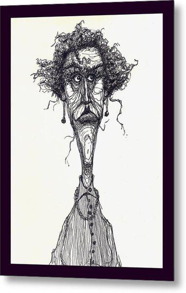 The Face Metal Print by Wayne Carlisi