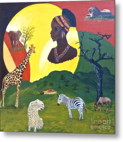 The Faces Of Africa Metal Print
