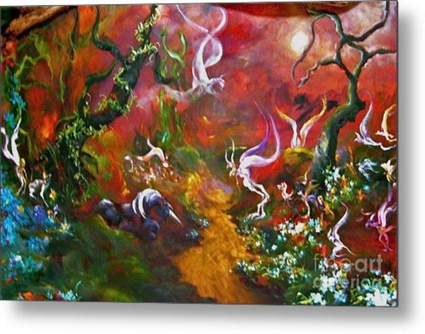 The Fairy Forest Metal Print by Michelle Dommer
