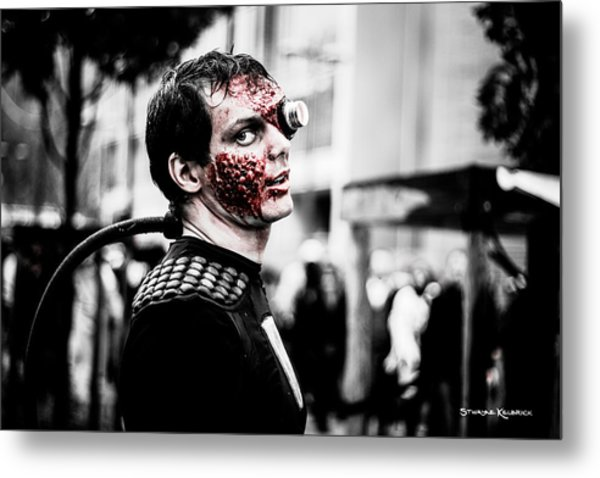 The Fake Zombie Robot Metal Print