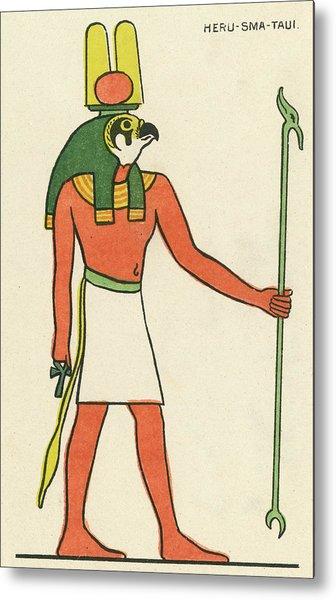 The Falcon-god Horus Has Many  Forms Metal Print