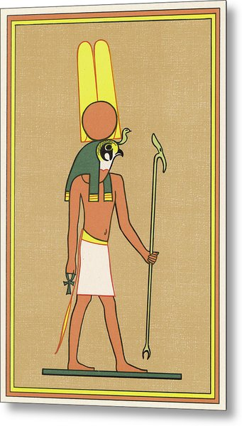 The Falcon-headed War-god Of  Thebes Metal Print