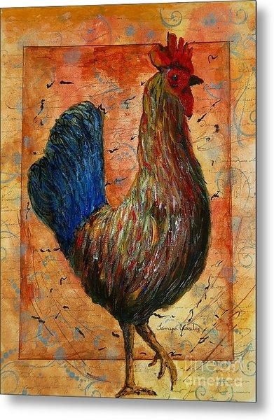 The Farm House Chicken Metal Print
