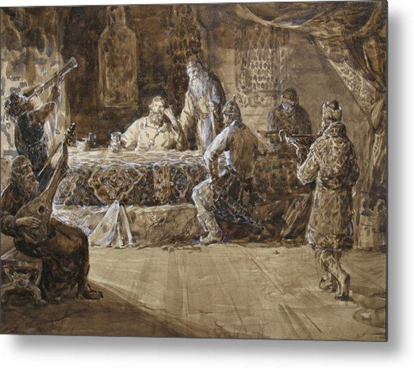 The Feast Of Prince Vladimir Metal Print by Korobkin Anatoly