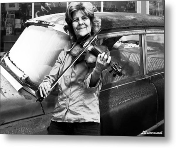 The Fiddle Player Metal Print by Larry Butterworth
