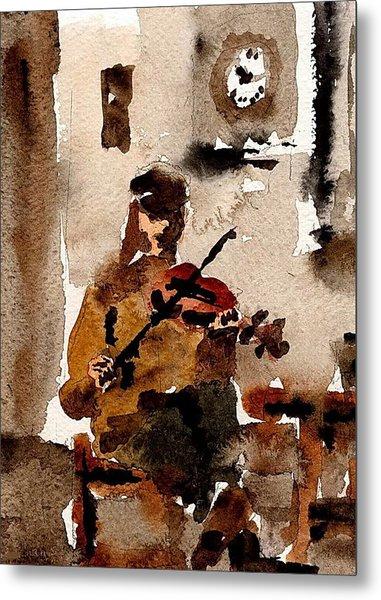 The Fiddler Metal Print