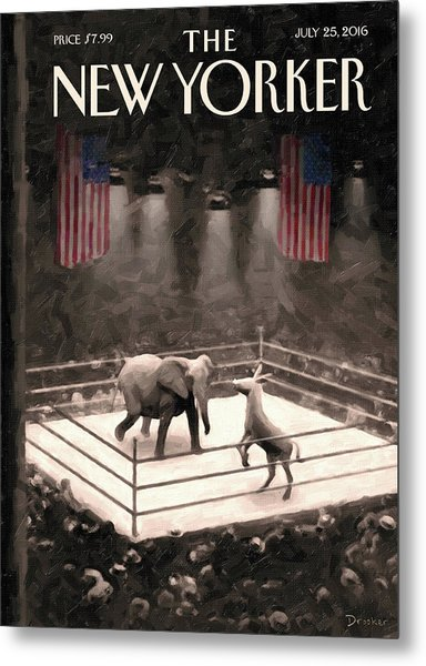 The Fight Begins Metal Print