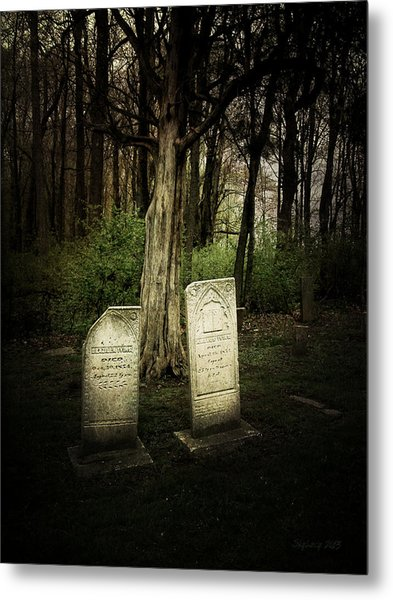 The Final Resting Place Of Ambros And Brazilla Ivins Metal Print