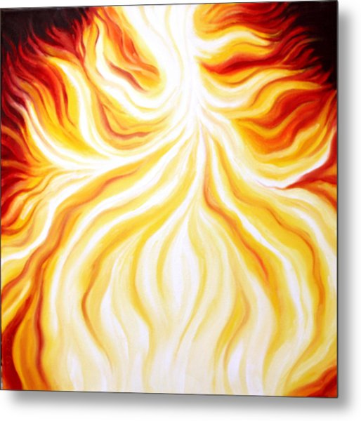 The Fire Falls  Metal Print by Sandra Yegiazaryan