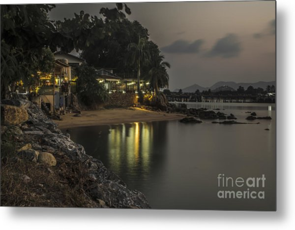 The First Evening Light Reflections Metal Print