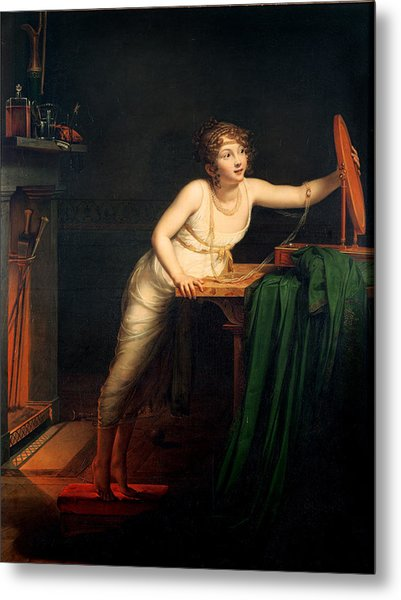 The First Sense Of Coquetry, 1804 Oil On Canvas Metal Print