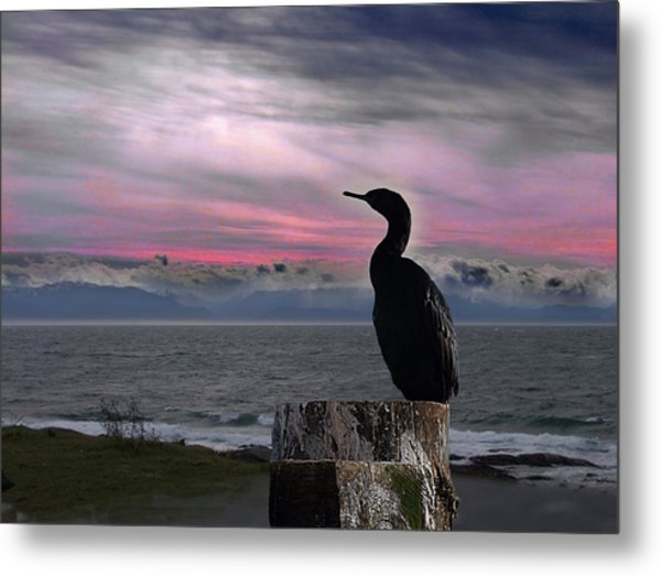 The Fisherman Rests Metal Print
