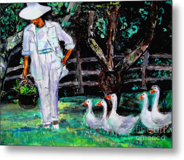 The Five Ducks Metal Print