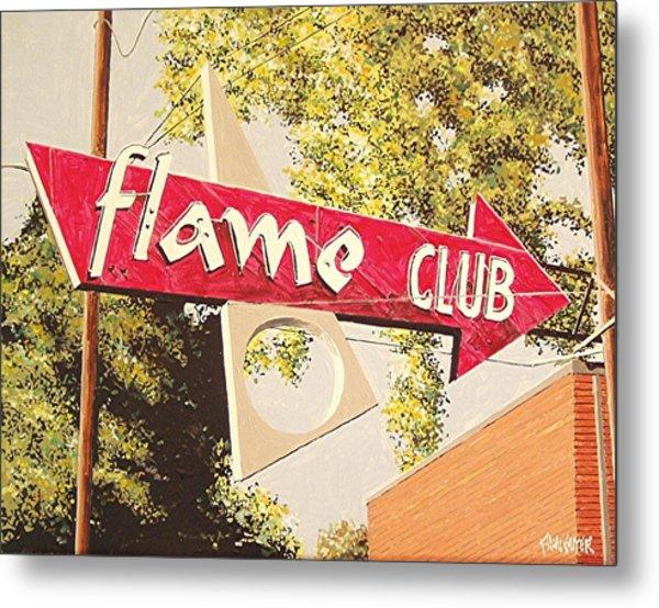 The Flame Club Metal Print by Paul Guyer