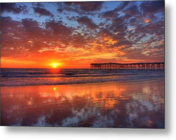 The Flame Of Pacific Beach Metal Print