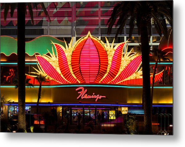 The Flamingo Hotel And Casino Las Vegas Metal Print