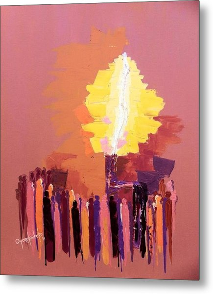 The Flare A Beacon Of Hope And Anguish Metal Print