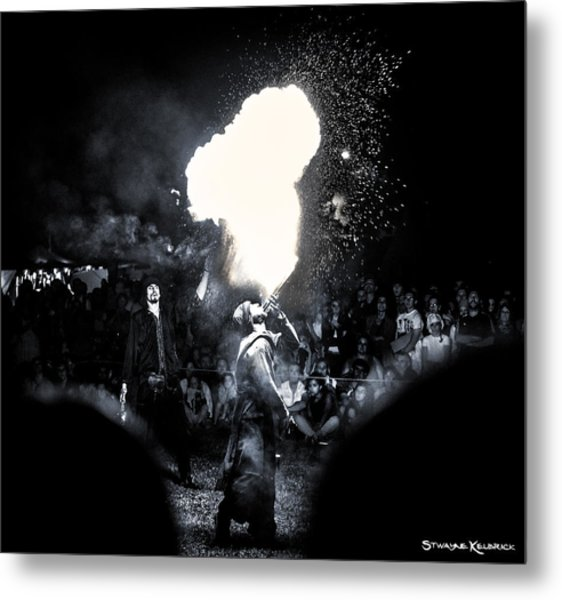 The Flare Thrower Metal Print