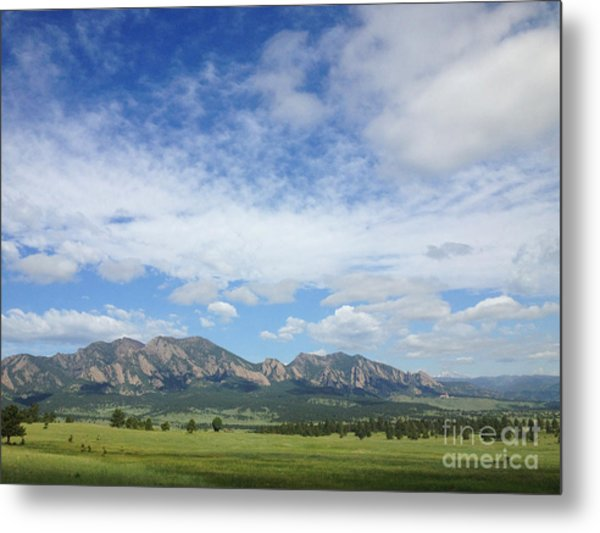 Metal Print featuring the photograph The Flatirons In Spring by Kate Avery