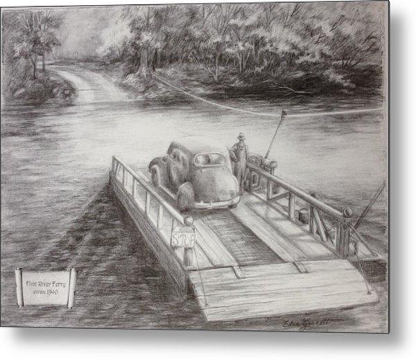 The Flint River Ferry In Georgia Metal Print
